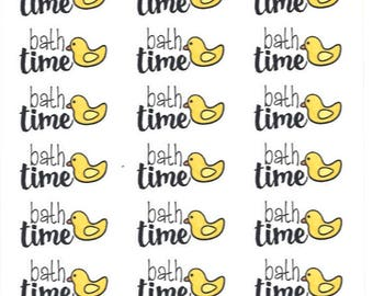 Bath Time Duckies || Planner Stickers