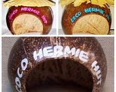 COCO HERMIT Crab HUTS - Authentic Coconut Shell, (Reg or Large) the perfect natural shelter for Hermit Crabs,Small Reptiles or Mammals