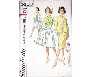 Simplicity 4400 Vintage 1950s Blouse, Jacket and Two Skirts Suit Sewing Pattern Size UK 16 Bust 38""