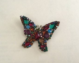 Unsigned Weiss Butterfly Pendant Circa 1950