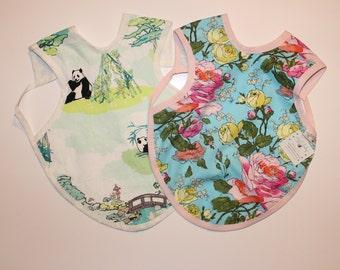 2t-4t Size Bapron, Full Coverage Bib, Art Smock, Baby Toddler Apron Bib, Floral, Panda Forest, Floral