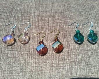 Twisting Crystal Earrings