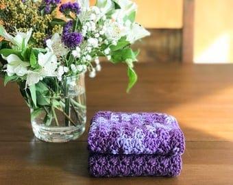 Crochet Dishcloth - Crochet Washcloth - Crochet Kitchen - Cotton Dishcloth - Housewarming Gift - Dishcloth Set - Handmade Dishcloth