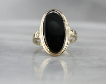 Goldring mit schwarzem stein  Schwarzer onyx gold ring | Etsy