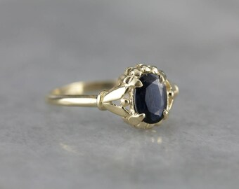 Navy Blue Sapphire Solitaire, The Abigail Ring by Elizabeth Henry, September Birthstone 2XFN7T-D