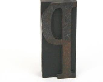 Letterpress Letter P / Vintage Wood Printing Type Block / Letterpress Printing Letter