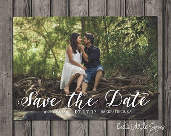 Save the Date Photo Card Digital Download
