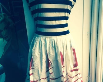 Summer dress Sailor boats stripes size 10