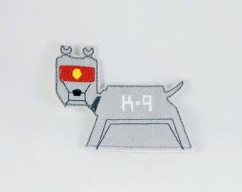 K9- finger puppet-Dog- Canine - Doctor Who Inspired Finger Puppets - Christmas gift - Stocking Stuffer - Embroidered Felt Finger Puppet