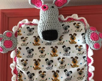 Lovey/Security Blanket Puppy Dog (Crocheted)
