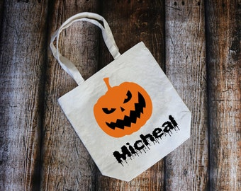 Trick or Treat Bag, Personalized Halloween Bag, Candy, Halloween, Trick or Treat, Candy Bag, Candy Tote, Canvas Bag