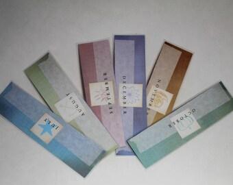 Birth Month Bookmarks