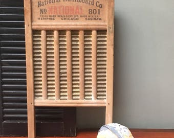 Large Washboard National Washboard Company 801 Primitive Rustic Farmhouse Country Home Cottage Chic, I Ship Globally