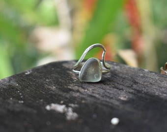 Sea glass wave ring