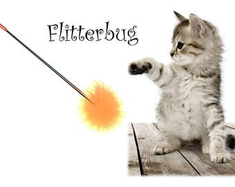 Flitterbug the Cat Wand Toy