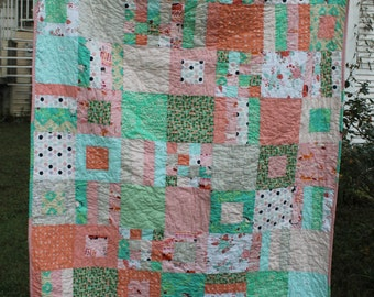 Sherbet baby quilt