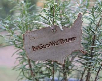 In God We Trust - USA Ornament
