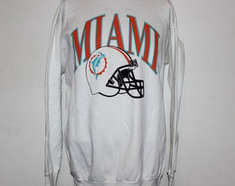 Vintage Miami Dolphins NFL Crewneck Sweatshirt L