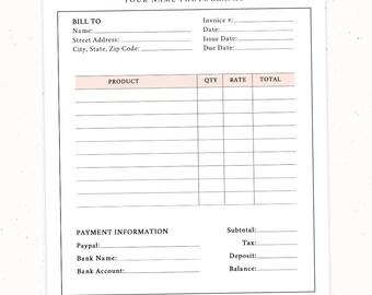 receipt invoice template