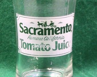 Vintage  Borden  6 ounce  promotional  advertising Sacramento  Tomato Juice glass