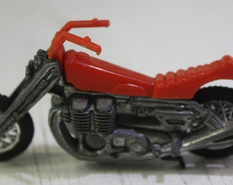 Vintage  1970's  scarce  Mattel Hot Wheel  RRRumblers RoadHog Red  motorcyle.