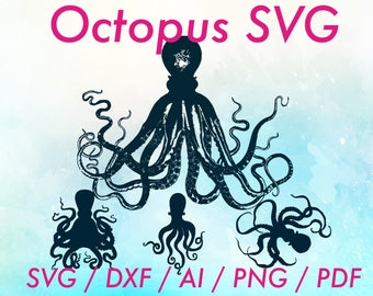 Octopus clip art / Octopus clipart / Octopus svg / Octopus vector / Octopus cricut svg / Octopus svg file