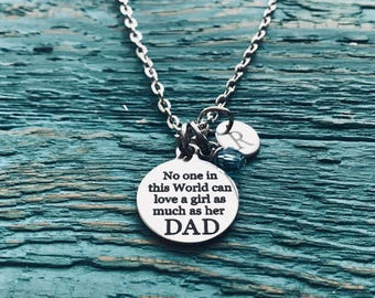 Gift for daughter, daddy daughter gift, gift for Dad, father daughter gift, Daddys Girl, Silver Necklace, Charm Necklace, Keepsake, Gifts