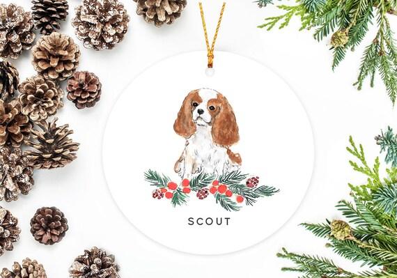 Cavalier King Charles Spaniel Christmas Ornament[MooseberryDesignCo/Etsy]