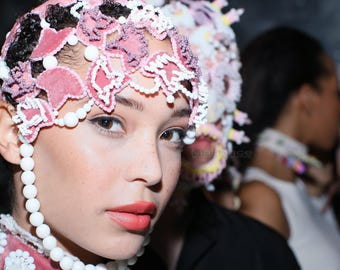 Fetish Black Goddess Headpiece Festival Headdress Rave Wear