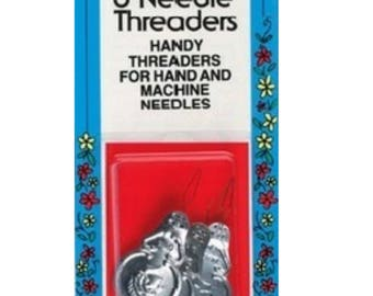 30% SALE Dritz Needle Threader 3 pack, Threads Needles Quickly, Great Beading Needle Aide, Store Closing Sale