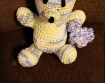 "11"" Baby Boy Bear with Blue Blankie"