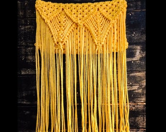 macrame yellow bag