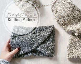 Double-Knit Twisted Turban Headband Pattern // Knit headband // Beginner's Pattern // Simply Maggie
