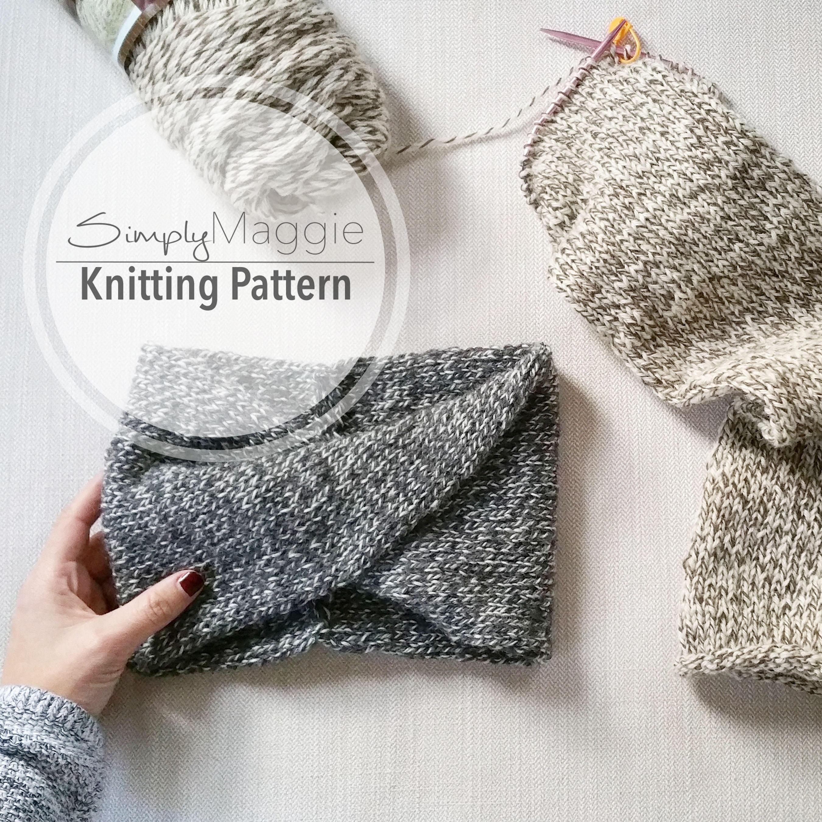 Knitting Pattern // Double-Knit Twisted Turban Headband