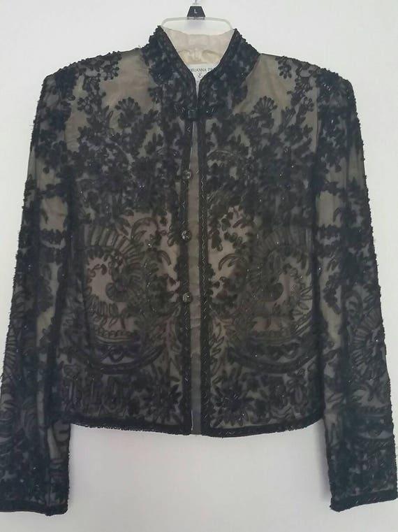 Vintage Beaded Jacket Small