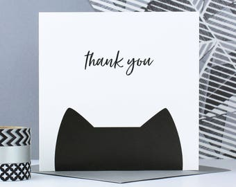 Thank you card, Cat card, thanks, crazy cat lady, cat gift