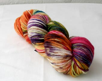 Hand dyed DK / 8ply 100% Wool - 'Zippy'
