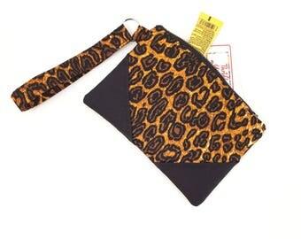 African purse, clutch purse, clutch bag, clutch wristlet, organizer pouch, wristlet clutch, wristlet, zip clutch wallet, zip clutch, leopard