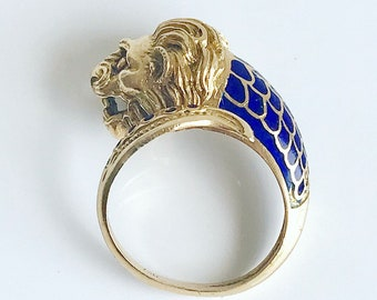 Gold Lion Ring