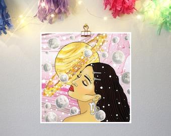 Capricorn Girl Print