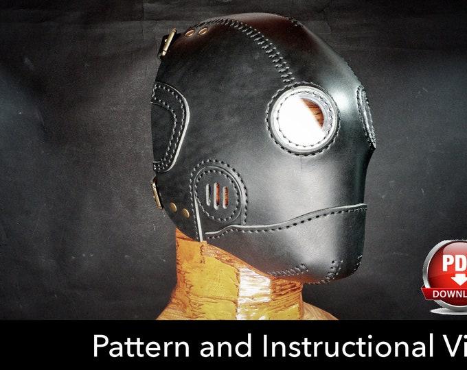 Steampunk Mask Pattern - DIY Pattern - Halloween Mask DIY - Leather mask DIY - Pdf Download - Mask Template