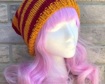 Gryffindor Slouchy Beanie: MADE TO ORDER