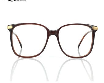 Lurveau® Authentic Vintage Brown Oversized Geek Glasses (no lens)