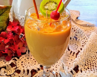 Gilligans Island Tropical Drink Candle made with Gel Wax