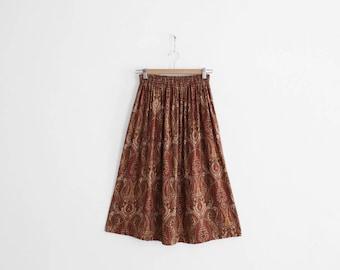 Vintage Paisley Print Skirt - 100% Rayon
