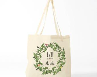 Bachelorette party, tote bag, custom bag for bridesmaids.