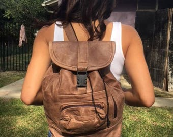 Backpack bag,Brown leather backpack,Made in Mexico,Back pack,sling bag