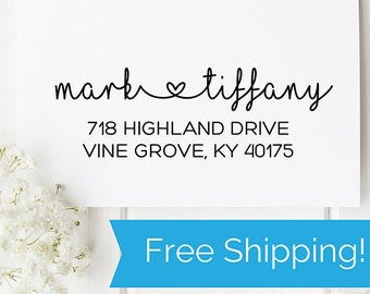 Custom Address Stamp, Address Stamp, Personalized Stamp, Return Address Stamp, Housewarming Gift, Wedding Gift, Gift for Her (D173)