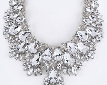 Crystal Statement Bib Necklace
