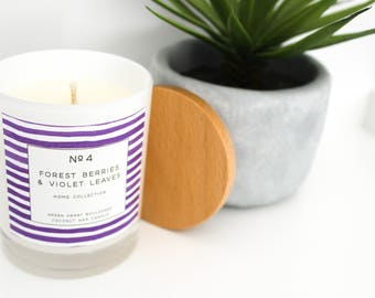 Coconut Wax Candle - No4 Forest Berries & Violet Leaves